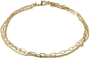 Pilgrim Gold Layered Thalia Anklet