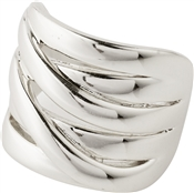 Pilgrim Silver Adjustable Chunky Ring
