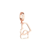 Rebecca Rose Gold Forever Together Hearts Charm