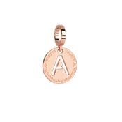 Rebecca Rose Gold Letter A Charm