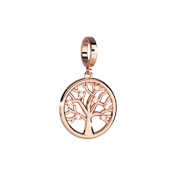 Rebecca Rose Gold Crystal Tree Of Life Charm