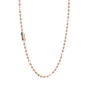 Rebecca My World Rose Gold Milled Ball Necklace