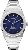 Vivienne Westwood Silver + Blue Limehouse Watch