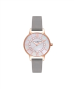 Olivia Burton Grey & Rose Gold Wonderland Sparkle Watch