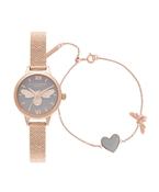 Olivia Burton You Have My Heart Bracelet & Watch Giftset