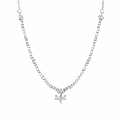 Nomination Chic Silver Crystal Dragonfly Necklace