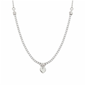 Nomination Chic Silver Crystal Heart Necklace
