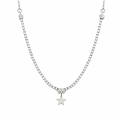 Nomination Chic Silver Crystal Star Necklace