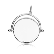 Argento Silver Crystal Spinning Disc Necklace