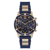 Rose Gold & Blue Breeze Watch by Guess