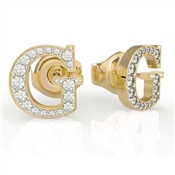 Guess Gold G Crystal Earrings