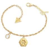 Guess Gold Peony Crystal Bracelet