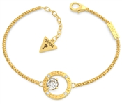 Guess Gold All Around You Circle Bracelet