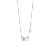 Guess Endless Love Rose Gold Infinity Necklace