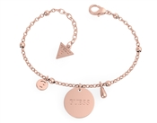 Guess Rose Gold Chain Logo Bracelet