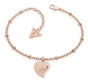 Guess Queen Of Hearts Rose Gold Bracelet