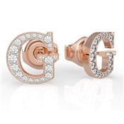 Guess Rose Gold G Crystal Earrings