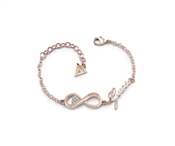 Guess Endless Love Rose Gold Infinity Bracelet