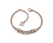Guess Rose Gold Crystal Double Bracelet