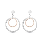 Guess Eternal Circles Mixed Metal Drop Earrings