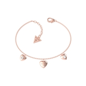 Guess Lovers Hearts Rose Gold Bracelet