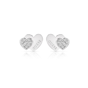 Guess Me And You Crystal Heart Earrings