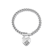 Guess Lock Me Up Padlock Heart Bracelet