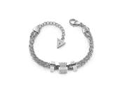 Guess Silver Love Knot Crystal Bracelet
