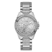 Guess Silver Lady Frontier Crystal Watch