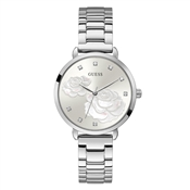 Guess Silver Sparkling Rose Watch