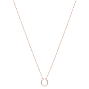 Argento Rose Gold Horseshoe Necklace