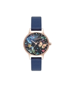 Olivia Burton Navy Night Garden Butterfly Watch