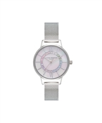 Olivia Burton Rainbow Wonderland Silver Mesh Watch