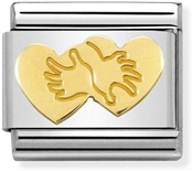 Nomination Hugging Hearts Charm