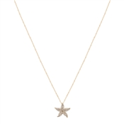 Dirty Ruby Gold Starfish Long Necklace
