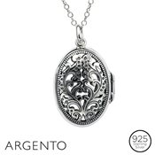 Argento Filigree Oval Locket