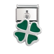 Nomination Green Hanging Clover Charm