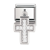 Nomination Silver Cross Charm