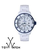 ToyWatch Fluo Aluminium Small White & Blue