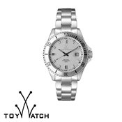 ToyWatch Metallic Silver With Stones