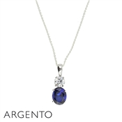 Argento Blue Crystal Necklace