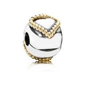 Pandora Braided Heart Clip