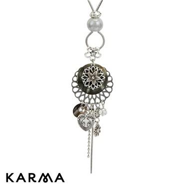 Karma Flower Drop Necklace
