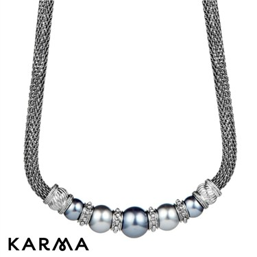 Karma Pearl Mesh Necklace