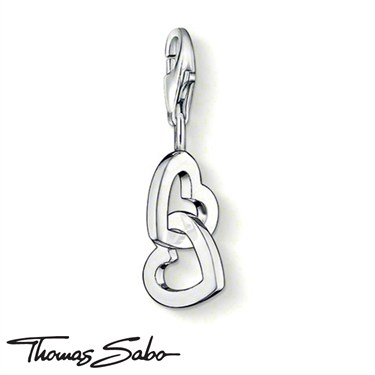 Thomas Sabo Intertwined Hearts Charm  - Click to view larger image