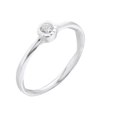 Argento Silver Clear CZ Ring