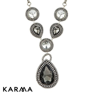Karma Teardrop Stone Set Necklace