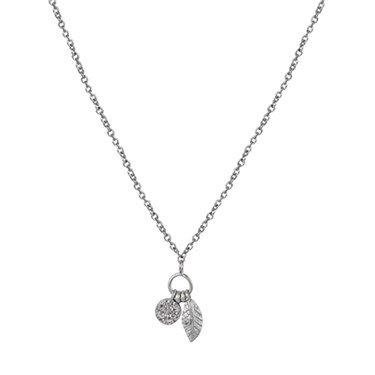Argento Drop Leaf Necklace