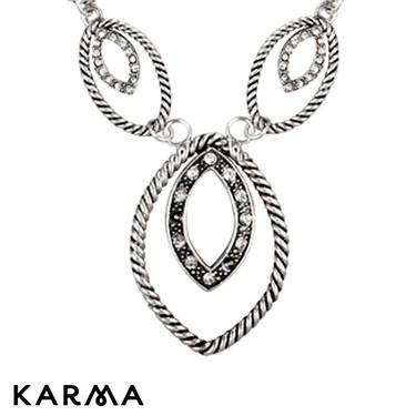 Karma Oval Links Necklace