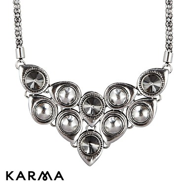 Karma Bead and Stone Set Necklace
